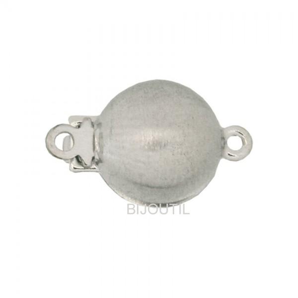 LIQ. Fermoir 8 mm sat. arg.rhodié