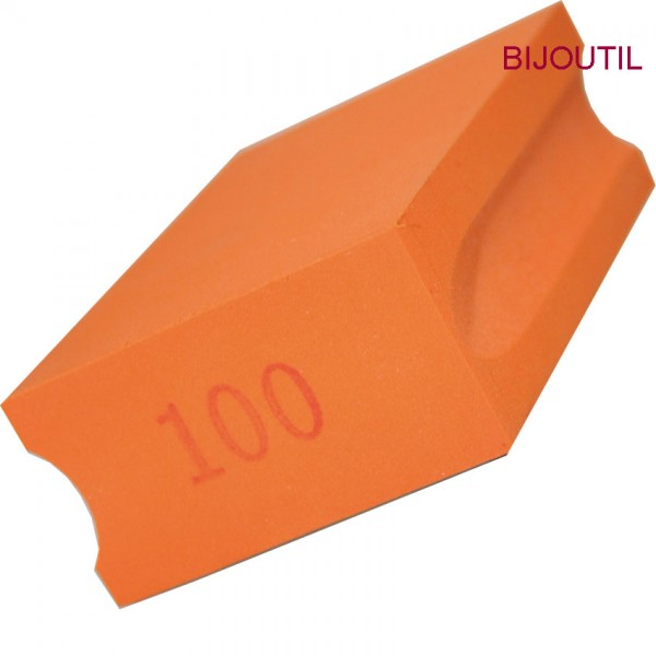 Pad diamantiert , K100, orange 9.5 x 5.5 x 3.0cm