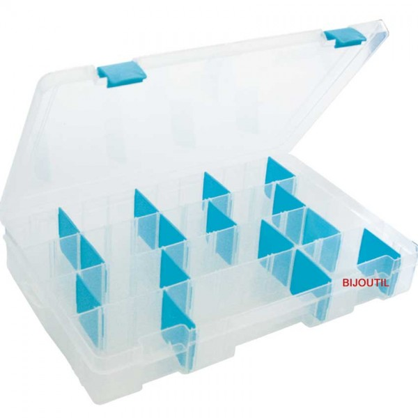 Fourniturenbox, anti-oxy 381x355x50mm, individuell teilbar