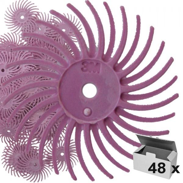 Radial-Discs 19 mm pink K800, 48Stk. unmontiert