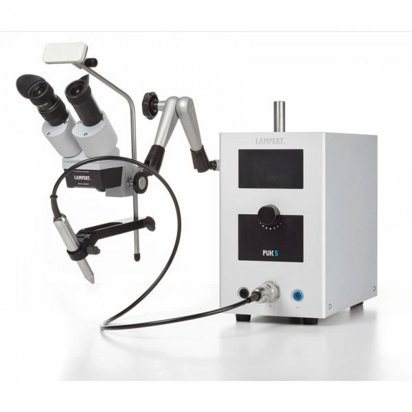 PUK 5 Punktschweissgerät inkl. Schweissmikroskop mit Schwenkarm