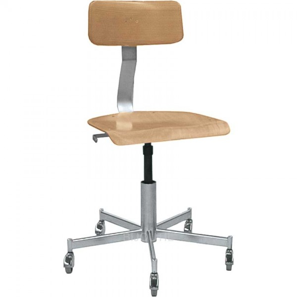 Workshop chair with 5 wheels