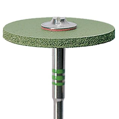 CeraGloss polisher diamond. green wheel Ø 25.0 x 2.0 mm