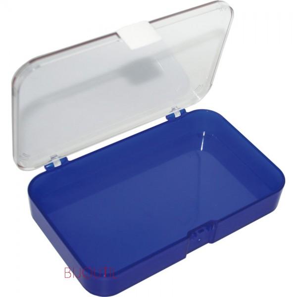 Fourniturenbox mit Klappdeckel, leer 185 x 108 x 30mm, Kunststoff