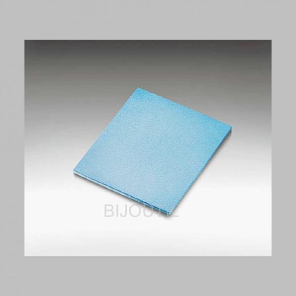 Schleifpad dünn,blau , 1 seitig besch., K 280, 140 x 115 x 5 mm