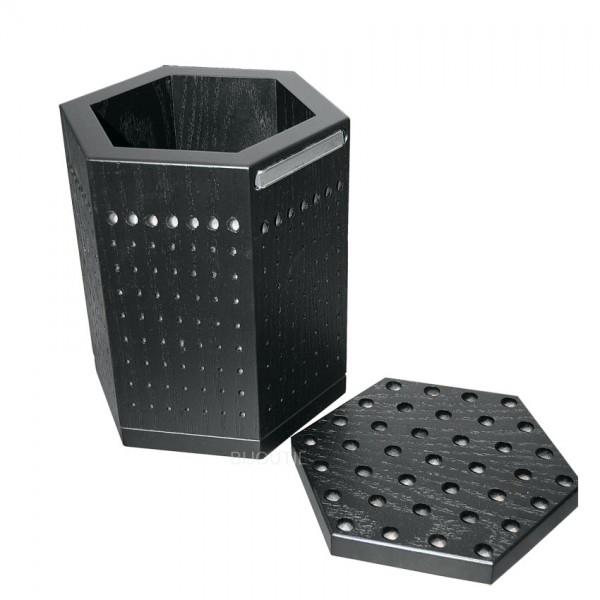 Fräserständer Hexagon gross, Holz 24 x 17cm, für 340 Fräser, 2 Magnete