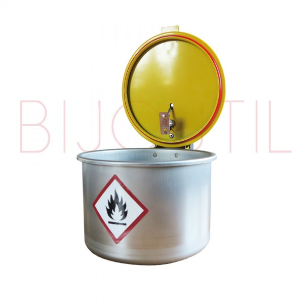 Waschgefäss 3 L, ∅ 180 x H 195mm Edelstahl mit Feuerschutzdeckel