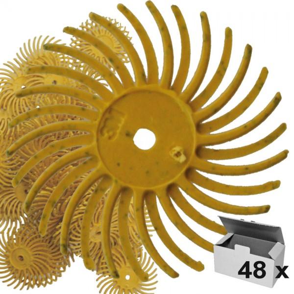 Radial-Discs 19 mm gelb K 80, 48Stk. unmontiert