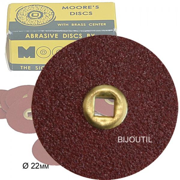 Moore disc, coarse, adalox Ø 22mm, Snap-On