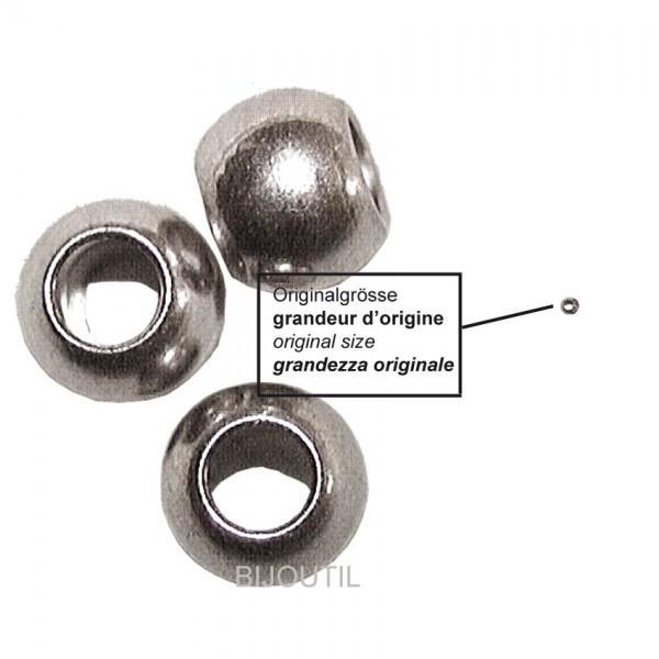 Quetschhülsen silbern à 50 Stk Ø ext. ca. 1,9 mm / Ø int. ca. 1mm