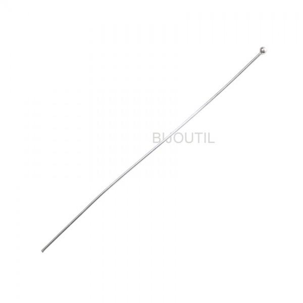 Silberdraht mit Kugel SI 925 Draht Ø 0.76mm, L 80mm, Kugel Ø 2.0mm