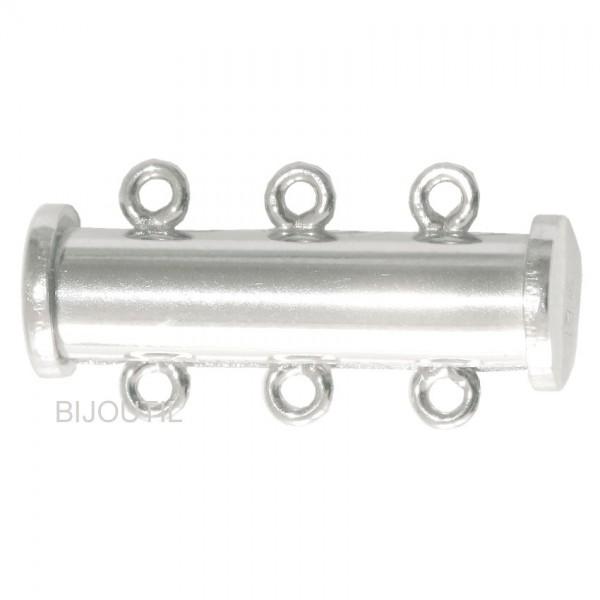 Magnetschliesse Silber 925 3-reihig