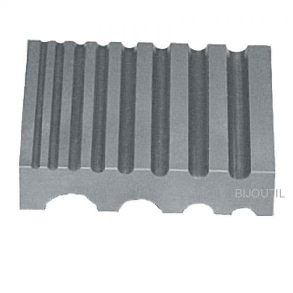 Rilleneisen 12 Rillen 3-25 mm