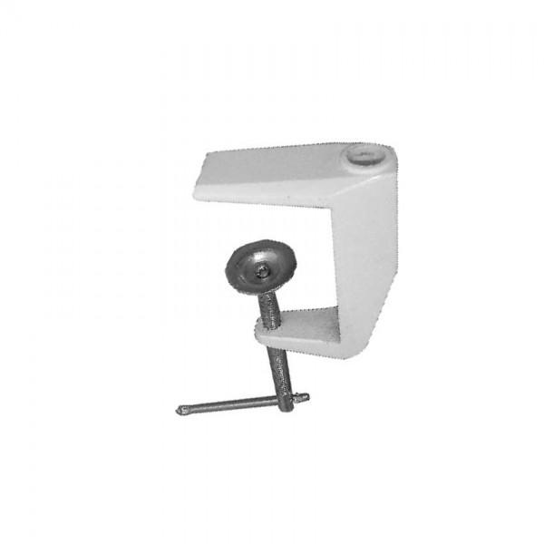 Pince de table, blanche pour lampe LED Plage d`ouverture 60mm