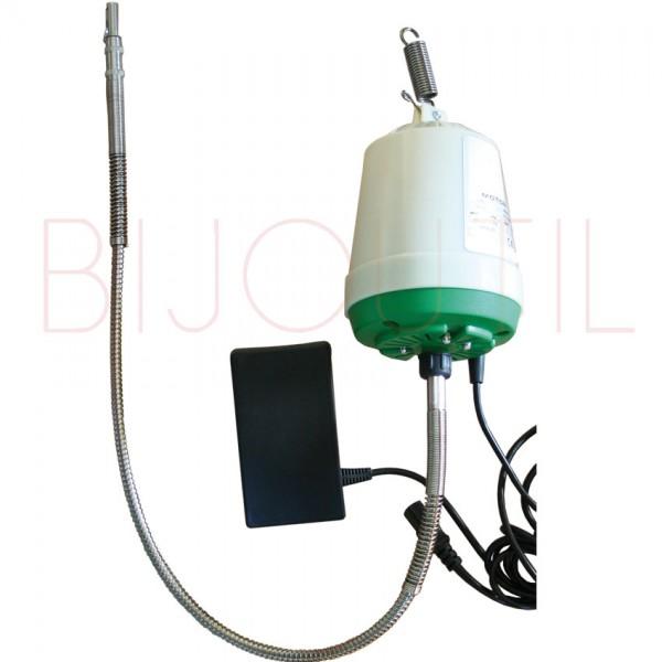 Hängemotor 15`000 U/Min. grün 300W, inkl. Welle und Pedal 240V/50Hz