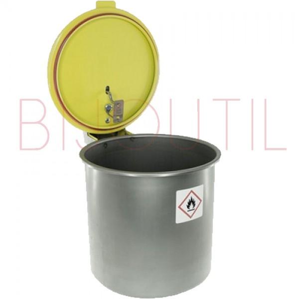 Waschgefäss 5 L, ∅ 233 x H 174mm Edelstahl mit Feuerschutzdeckel