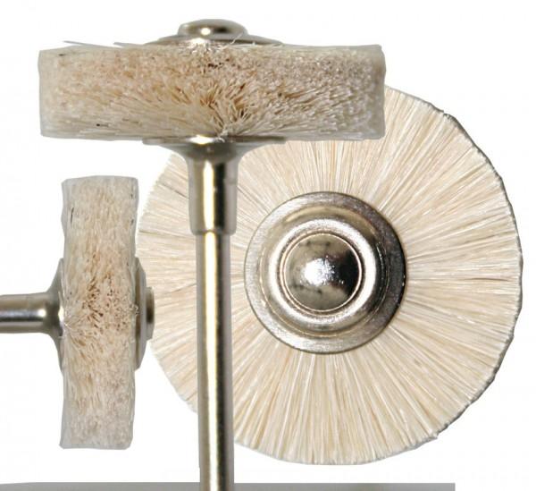 Bürste Zieg.weiss 23 mm montiert 3-fach, Breite ca. 5 mm