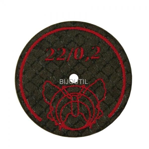 Separating disc Ø 22 x 0.2 mm Box with 5 pcs