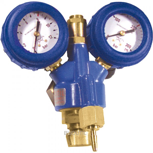 DRV Sauerstoff mit 2 Manometer 0 - 12bar, G3/4` Gew. rechts( ~22mm)