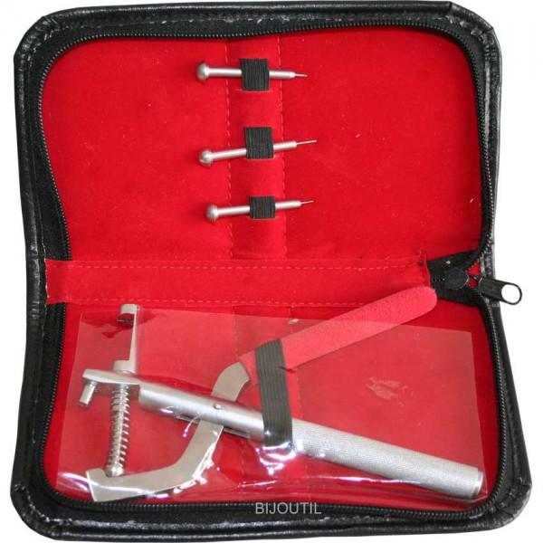 Stiftenausstosszange Set im Etui mit 3 Stiften Ø 0.7 / 1.0 / 1.2mm