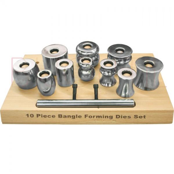 Armreif-Formwerkzeug-Set, 10teilig auf Holzbrett