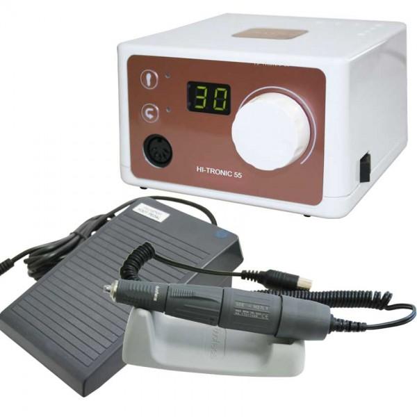 Mikromotor HI-TRONIC 55, 110 / 240V inkl.Handstück, Pedal + Handstückhalter