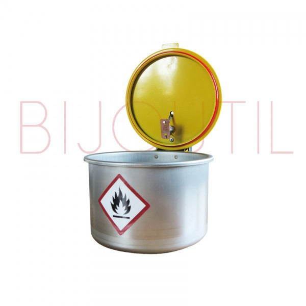 Cleaning container 2 L, ∅ 180 x H 140m stainless steel with safety lid