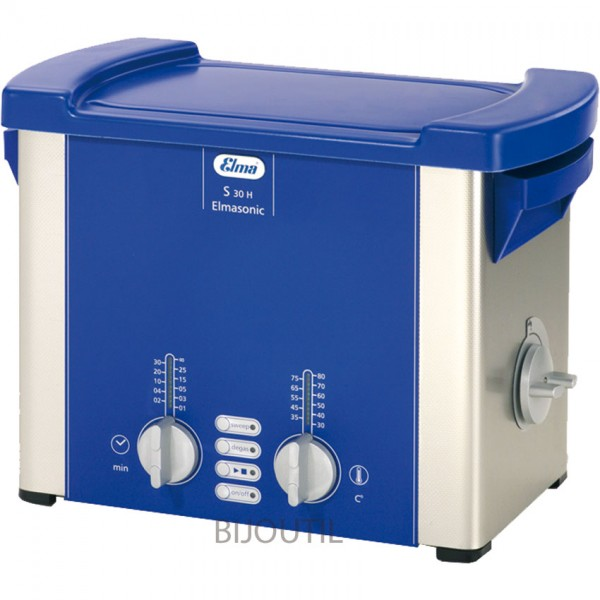 Ultrasonic cleaner S 30 H 2,75 L with cover and outlet