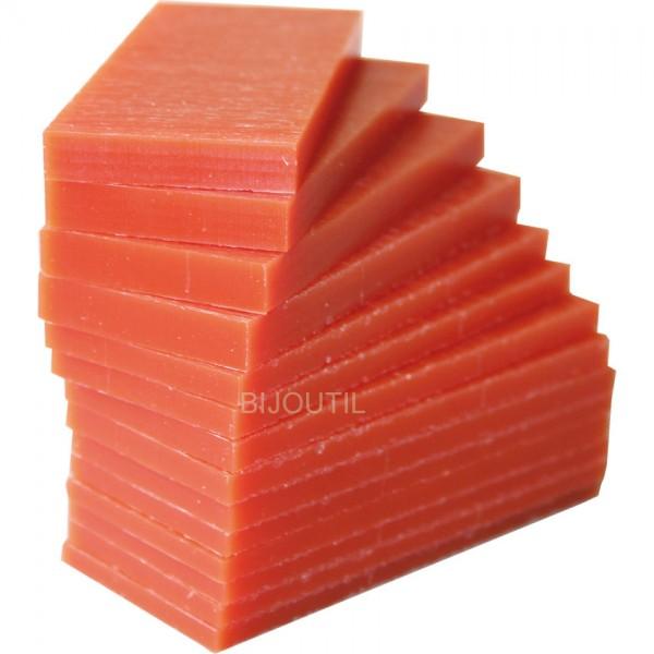 Industrie - CNC Wachs, orange Block 90 x 90 x 30mm, verschnitten