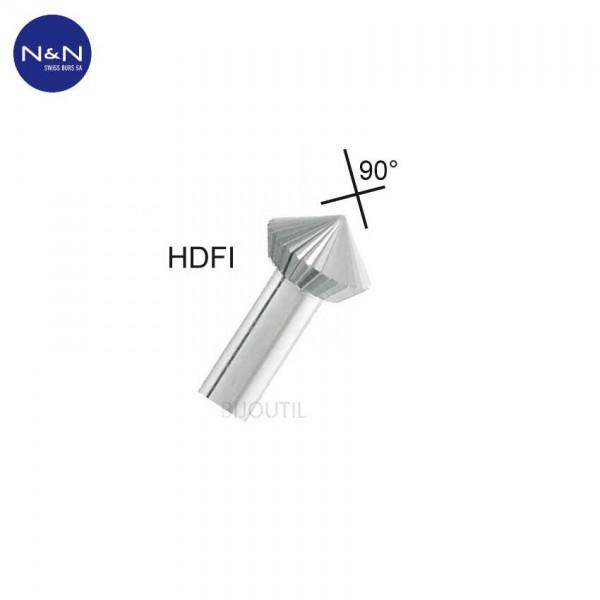 Fräser HDFI doppelkegel 2.00 mm