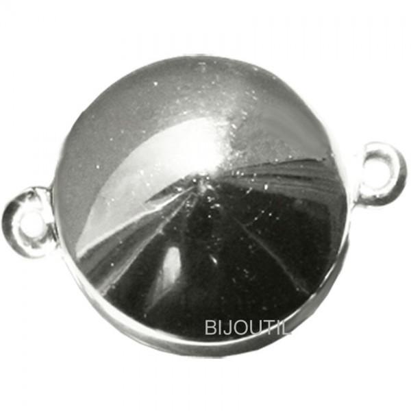Magnetschliesse Ø 15 mm, Linse Silber 925, rhod., slide