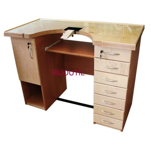 Klein-Werktisch 121 x 62 x 91cm mit Tablar- und Schubladenblock