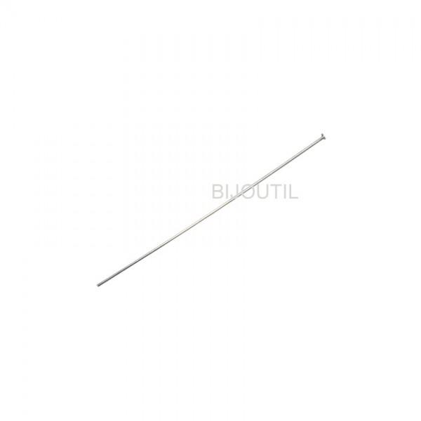 Silberdraht mit Rondelle SI 925 Draht Ø 0.5mm, L 50mm, Rond. Ø 1.2mm
