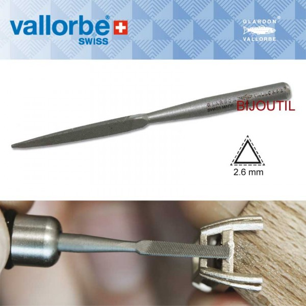 Maschinenfeile, dreikant, Hieb 0 2.6 x 2.6 x 2.6mm Glardon® by Vallorbe