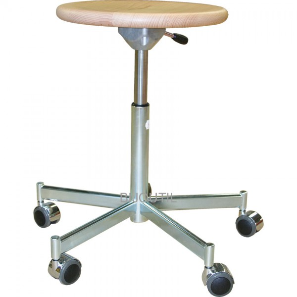 Workshop stool with 5 wheels 47-66 cm