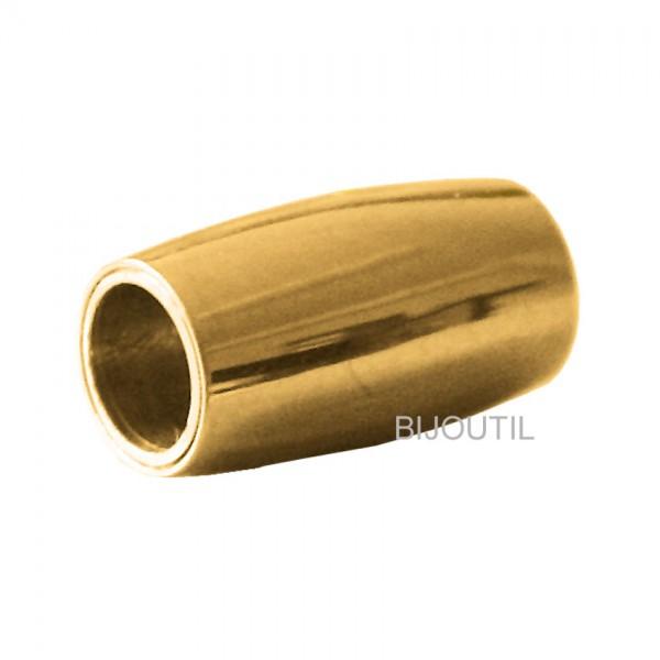 LIQ. Magnetschliesse Stahl, oval 14mm, innen Ø 5mm ~ Solange Vorrat
