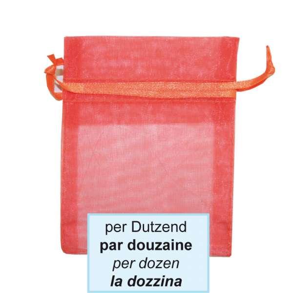 Schmuckbeutel, orange, 7.5x10cm