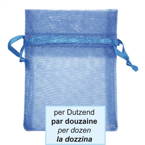 Schmuckbeutel, royal blau, 12.5x17cm