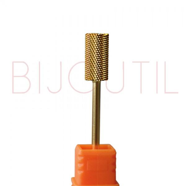 Fräser gold Zylinder Ø 6.5 x 13mm F feine Zahnung, Schaft 2.34mm