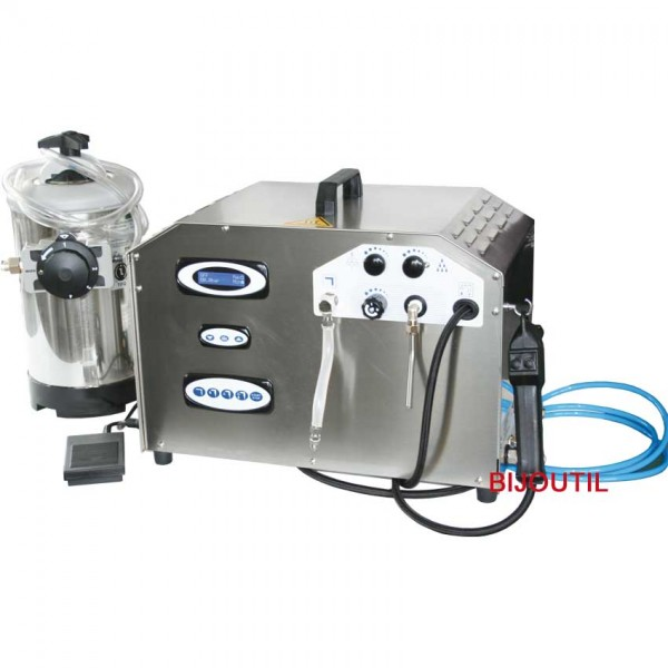 Steamer Waterjet, max. 8 bar incl. pistol and steam+water nozzle