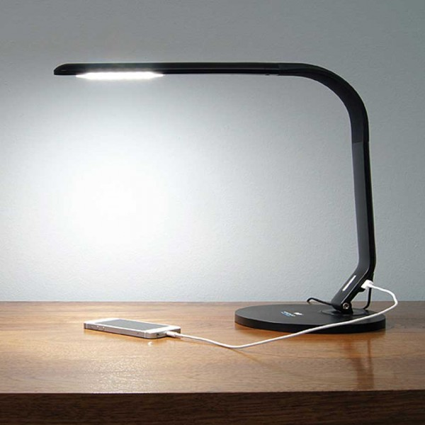 Lampe de table, LED, 8W, noir 110-240V, daylight, 6000K