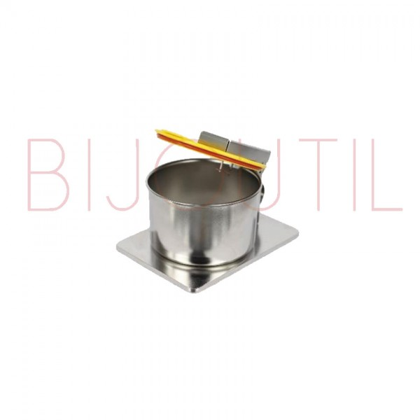 Cleaning container 0.15L, ∅ 98 x H 81mm stainless steel with safety lid