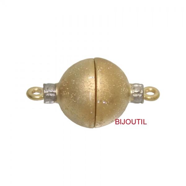 Magnetschliesse Silber 925, rund 12mm milkyway, matt, vergoldet