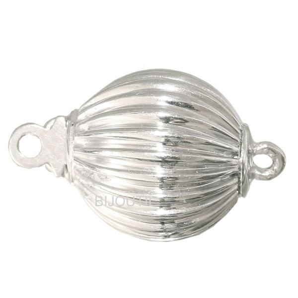 LIQ. Bead clasp 10 mm silver rhod.