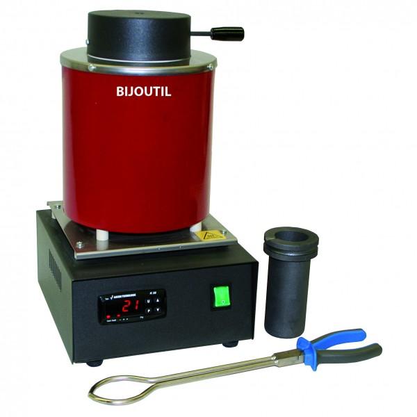 Schmelzofen 3 kg Kapazität 220 V, 1400 W, 1200° C, LED Anzeige