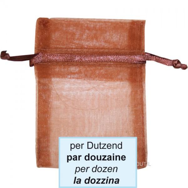Schmuckbeutel, braun, 12.5x17cm