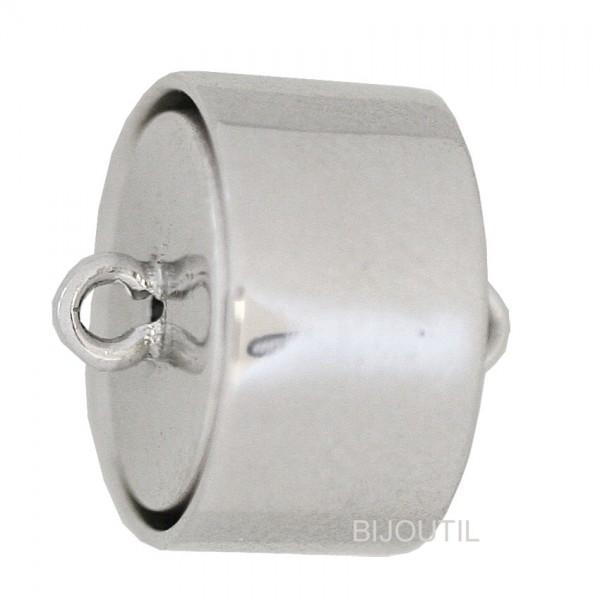 Magnetschliesse Silber 925, 14 x 8 mm rhodiniert, poliert