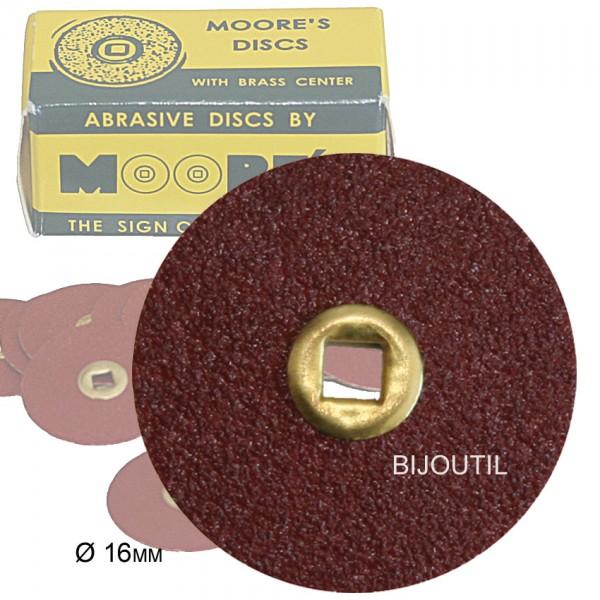 Moore disc, coarse, adalox Ø 16mm, Snap-On