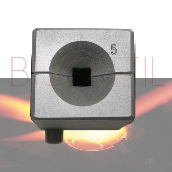Drahteinguss, vierkant, Ø 5 mm ohne Schraubzwinge